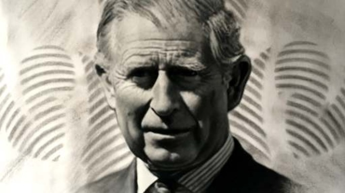 Darren Baker creates portrait for Prince Charles' 70th Birthday